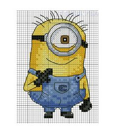 Bilderesultat for free cross stitch patterns: minions Cross Stitch For Kids, Cross Stitch Charts, Cross Stitch Designs, Cross Stitch Patterns, Cross Stitching, Cross Stitch Embroidery, Embroidery Patterns, Machine Embroidery, Disney Stitch