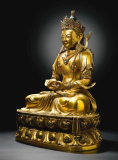 AN IMPERIAL GILT-BRONZE FIGURE OF AMITAYUS<br>QING DYNASTY, KANGXI PERIOD | Lot | Sotheby's