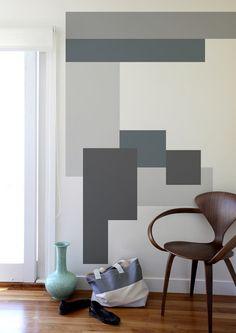 Carta da parati, stickers, tinteggiatura a tinta unita, uniforme su tutte le pareti... E poi? C'è la geometria per decorare, che gioca con colori e forme #DesignOutfit #SuMisura