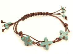 #DIY #tutorial Triple strand sliding knot bracelet