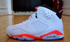 sports shoes d0bdd 11263 Order 384664-123 Air Jordan 6 (VI) Original White infrared Black (Women Men  Gs Girls) Online Price  92.69
