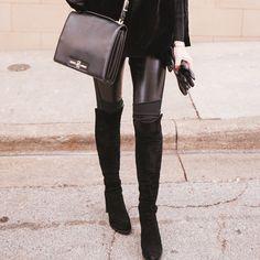 Back in black: Hot in the HIJACK boot. #inourshoes