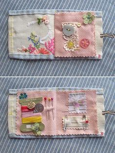 needle case using vintage hankies @Mallory Puentes Puentes Puentes Puentes Porch