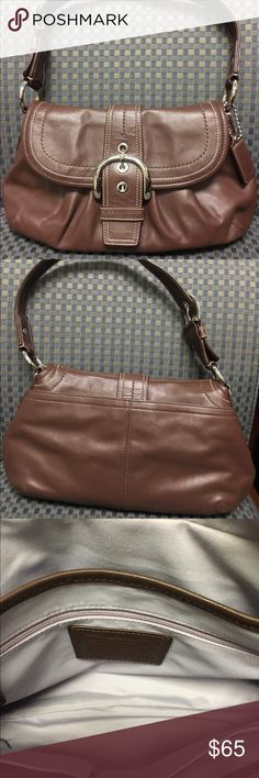 "Dark brown coach purse Perfect condition; only used a couple times at most!  No stains; 12"" long and 7 1/2"" high! I trade so ask ... Coach Bags Shoulder Bags"