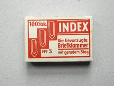 Clips from Berlin #packaging #box #vintage