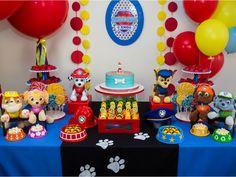 Mandamos o quadrinho com o nome e idade do seu filho - Festa Patrulha Canina - Aluguel de Decoração que você encontra na www.festeirice.com.br