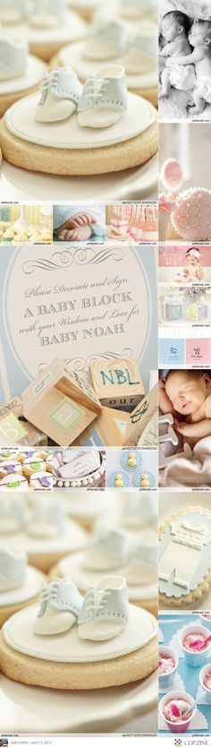Couture Baby Shower theme - just stunning! Baby block idea!