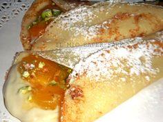 Crepes senza burro con miele ricotta e albicocche