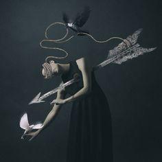 L' amoureuse... / Autoportrait. / By Josephine Cardin.