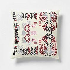 West Elm Alyson Fox pillow - own it, love it. Stenciled Pillows, Decorative Pillows, Pink Bedding, Bedding Sets, Fox Pillow, Pillow Talk, Cabin Design, Bedroom Accessories, Accent Pieces