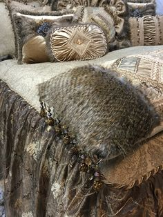 Champagne Old World Bedding Luxury Bedding Collections, Old World Style, Fox Fur, Damask, Color Schemes, Swarovski Crystals, Champagne, Fabrics, Shades