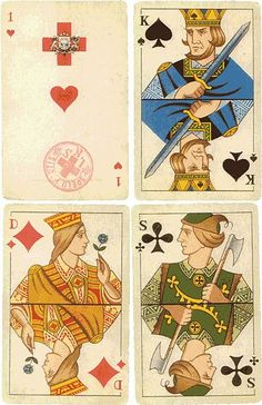 Latvian playing cards designed by Arturs Duburs, 1942