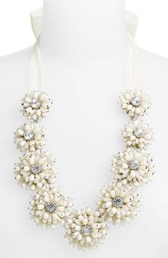 Kate Spade beaded ribbon necklace