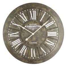 Yosemite Home Decor Big Iron 39.5 in. Screen Printing Wall Clock - CLKB2A175