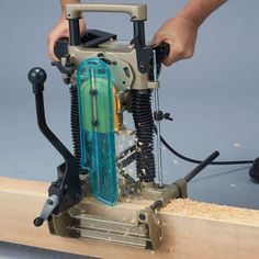Timber Framing Tools, Mortising Machine, Log Home Decorating, Timber Frame Homes, Drill Press, Mortise And Tenon, Makita, Log Homes, Woodworking Tools