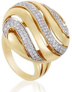 18K Yellow Gold with 0.77ct Diamond Ring Size 6.75