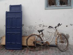 An old bike at rest in Essaouira, Morocco.