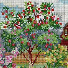 Схема вышивки Цветущий сад (Riolis) 1 из 4