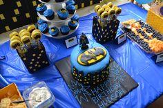 Batman party tablescape