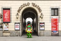 """""""The guardian almost mistook me for a stage costume! Luckily he realized that next to Piccolo Teatro Milano there's also my office!"""" #Foody #Expo2015 #Milano #Italy"""