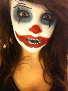 scary creepy clown face paint for halloween party or event white image result for easy halloween