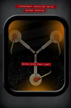 Back to the Future Movie Flux Capacitor Poster Print poster