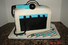 Amp & microphone birthday cake