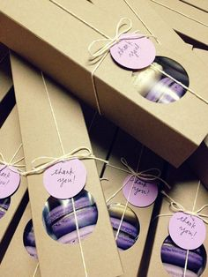 Eco Friendly Kraft Macaron boxes by Meebah on Etsy