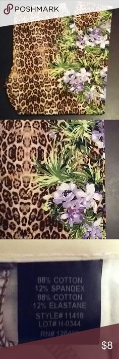 """NEW Leopard Leggings NEW Leopard print leggings with floral details by Antthony.  17.5"""" waist, flat 26"""" inseam Antthony Pants Leggings"""
