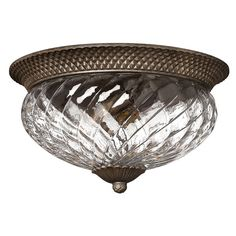 Plantation Pearl Bronze Flush Mount Ceiling Light Hinkley Flush Mount Flush & Semi Flush L