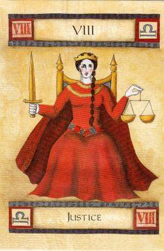 "Justice - The ""Art of Tarot""-Deck (Liz Dean)"