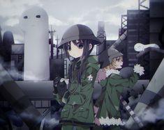 Chito & Yuuri [Shoujo Shuumatsu Ryokou] Trinity Seven Anime, Tokyo Ghoul Arima, Manga Anime, Anime Art, Rare Gems, Shoujo, Anime Girls, Depression, Fanart
