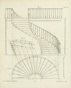 Ideas For Spiral Stairs Architecture Plan architecture drawing Ideas For Spiral Stairs Architecture Plan Staircase Railings, Spiral Staircase, Staircase Design, Plans Architecture, Architecture Details, Classical Architecture, Types Of Stairs, Stair Plan, Building Stairs