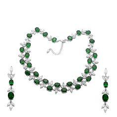 2pcs Elegant White Cubic Zirconia Chokers Necklace| Drop  Dangle Earrings