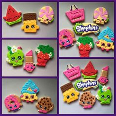 Shopkins cookies Shopkins Cookies, Shopkins Bday, Shopkins Cake, Cookies For Kids, Cute Cookies, 6th Birthday Parties, 9th Birthday, Birthday Ideas, Royal Icing Cookies