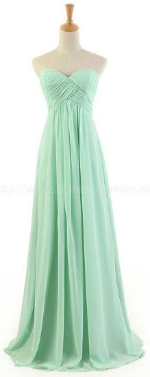 Mint bridesmaid dress, so pretty.