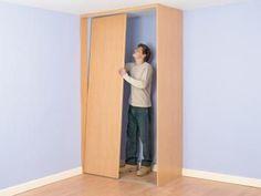 Install a corner closet