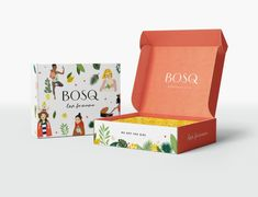 Bosq packaging design for a mom gift box subscription designed by Aeolidia box design Bosq