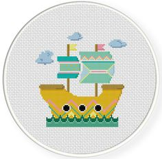 SALE Mystical Ship PDF Cross Stitch Pattern on Etsy, $1.49