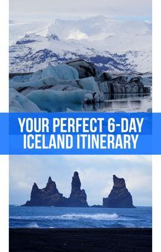This perfect 6-day southern Iceland itinerary will take you through the country's top highlights. Starting in Reykjavik, it includes the fjords, Golden Circle, Seljalandsfoss, Skogafoss, Reynisfjara, Jokulsarlon, and the Blue Lagoon. #Iceland #Europe #Itinerary #Travel #TravelTips #Traveller #Scandinavia #Glacier #Waterfall