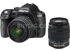 Pentax K-500 Digital SLR Camera with 18-55mm f/3.5-5.6 and 50-200mm f/4-5.6 Lenses