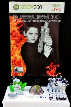 what an awesome party for a tween boy...could be adapted for tween girl too!