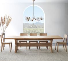 Pedestal Dining Table, Dining Table Design, Modern Dining Table, Dining Chairs, Light Wood Dining Table, Long Dining Room Tables, Farmhouse Dining Rooms, 12 Seater Dining Table, Modern Extendable Dining Table