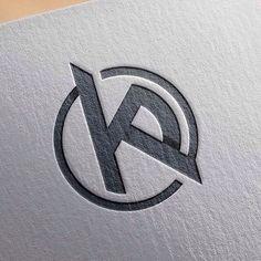 KP initials, logo/mark for personal use KP Project Logo Typo, Typographic Logo, Logo Branding, Branding Design, Initials Logo, Monogram Logo, Logo Evolution, Logo Inspiration, Carta Logo