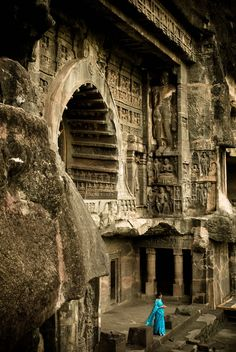 Ellora Caves, Maharashtra, India - My brother & sis-in-law were there last week. Looks amazing