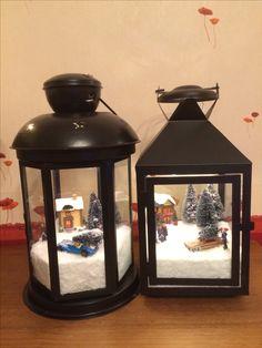 20 Eye-Catching DIY Christmas Decorations and Crafts Christmas Lanterns, Christmas Jars, Homemade Christmas Gifts, Christmas Home, Christmas Holidays, Christmas Projects, Christmas Crafts, Christmas Shadow Boxes, Lanterns Decor