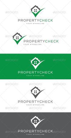 Property Check Logo: Building Logo Design Template by creativebeat. Real Estate Logo Design, Best Logo Design, Graphic Design, Logo Design Template, Logo Templates, Building Logo, Home Icon, Home Logo, Monogram Logo
