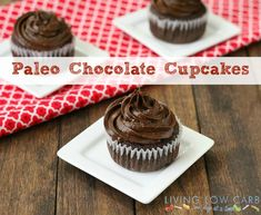 Paleo Chocolate Cupcakes with Coconut Cream Filling (Low Carb and Paleo Friendly) | Living Low Carb One Day At A Time