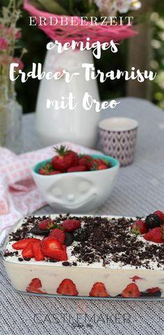 Die Erdbeerzeit ist da und es ist Zeit für ein cremiges Tiramisu mit Erdbeeren und Oreo. Wie das geht und sogar ohne Ei, das lest auf meinem Blog. Ich habe zwei Varianten, mit und ohne Ei, aufgeschrieben. Viel Spaß beim Nachmachen.. #oreo #rezept #erdbeertiramisu #tiramisu