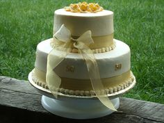 50th Wedding Anniversary cake by goochie137, via Flickr